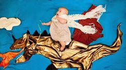 Un bébé part à l'aventure dans une magnifique séance