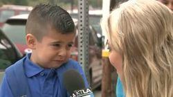 Rentrée scolaire: un jeune garçon fond en larmes à l'idée d'être séparé de sa mère