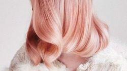 La tendance des cheveux roses gold vous redonnera