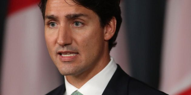 Canada's Prime Minister Justin Trudeau speaks during a press conference in Ottawa, Ontario, September...