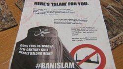 Des tracts islamophobes distribués à