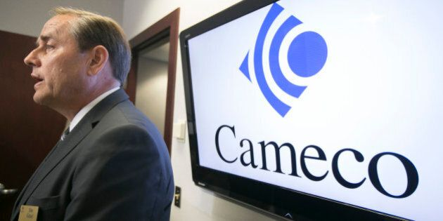 Cameco CEO Tim Gitzel speaks with the media after the company's annual general meeting in Saskatoon,...