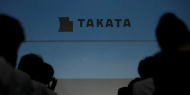 Shigehisa Takada, chairman and president of Takata Corp., pauses during a news conference in Tokyo, Japan,...