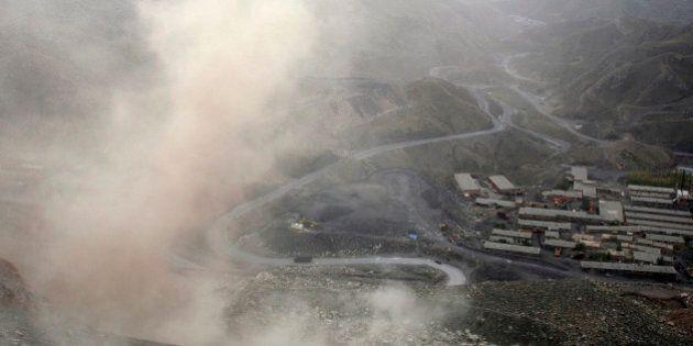 A general view of the Yangchi mining section of Dafeng mine in Shizuishan, Ningxia Hui Autonomous Region...