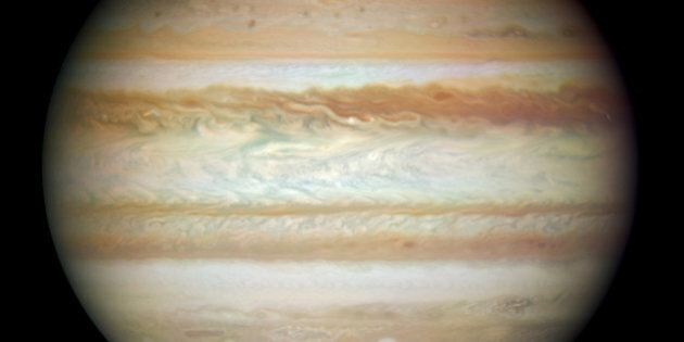 IN SPACE - JULY 23: In this image provided by NASA, ESA, and the Hubble SM4 ERO Team, the planet Jupiter is pictured July 23, 2009 in Space. Today, September 9, 2009, NASA released the first images taken with the Hubble Space Telescope since its repair in the spring. (Photo by NASA, ESA, and the Hubble SM4 ERO Team via Getty Images)