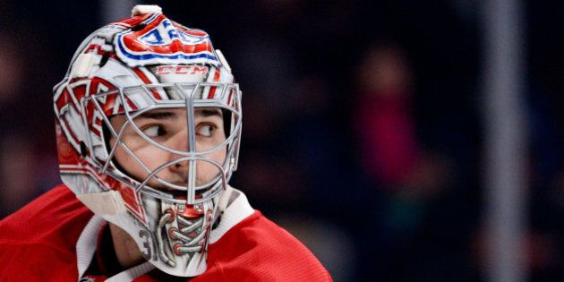MONTREAL, QC - OCTOBER 17: Carey Price #31 of the Montreal Canadiens during the NHL game against the...