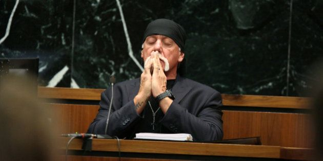 ST PETERSBURG, FL - MARCH 08: NY POST OUT Terry Bollea, aka Hulk Hogan, testifies in court during his...