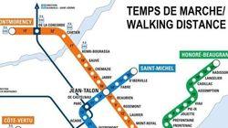 Cette nouvelle carte du métro contient une information bien
