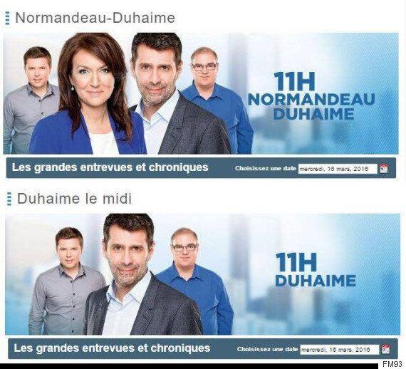 FM93: Nathalie Normandeau suspendue sans solde, Duhaime en solo