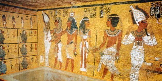 EGYPT - CIRCA 1354: Necropolis of Thebes. Louqsor (Egypt). Toutankhamon's grave (1354-1345 BC), XVIIIth...