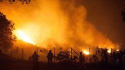 Un incendie de forêt menace deux villes portuaires au