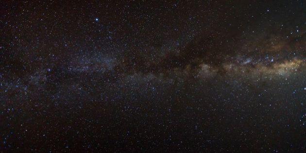 Milky Way galaxy, Long exposure