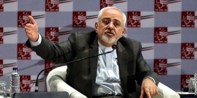TEHRAN, IRAN - AUGUST 9: Iran Foreign Minister Mohammad Javad Zarif speaks over the Iran nuclear deal...