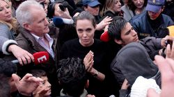 Angelina Jolie en Grèce pour la cause des