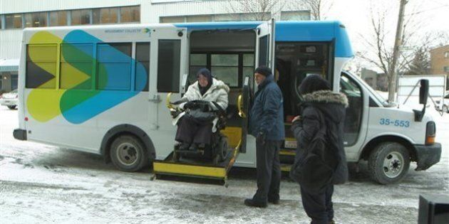 Un transport adapté, mais pas aux