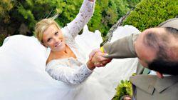 Des photos de mariage littéralement vertigineuses