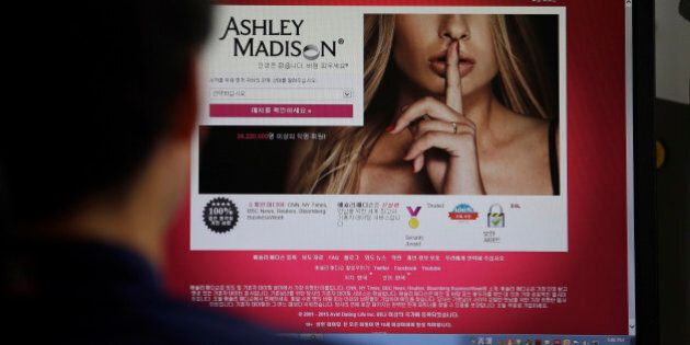 FILE - A June 10, 2015 photo from files showing Ashley Madison's Korean web site on a computer screen in Seoul, South Korea. Hackers claim to have leaked a massive database of users from Ashley Madison, a matchmaking website for cheating spouses. In a statement released Tuesday, Aug. 18, 2015, a group calling itself Impact Team said the site's owners had not bowed to their demands.