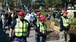 Une manifestation à la place Émilie-Gamelin, à Montréal, tourne