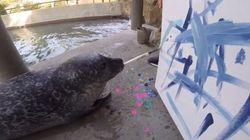 Un zoo vend aux enchères des tableaux peints par ses animaux
