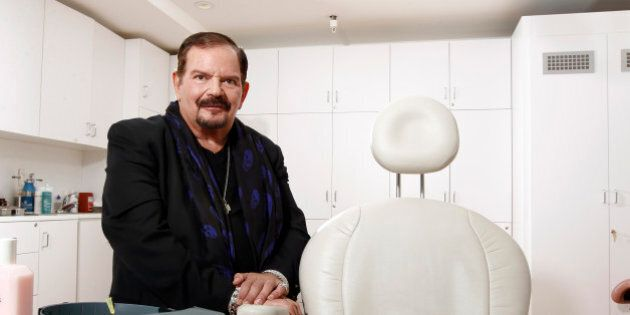 Dermatologist Arnold Klein poses for a portrait in his office in Beverly Hills, Calif. Klein, a celebrity...