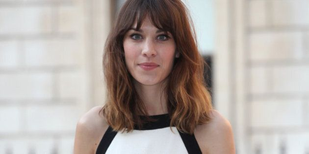 alexa chung arriving for the...
