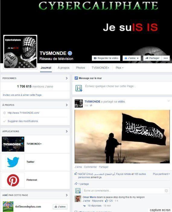 La chaîne francophone TV5Monde piratée par des individus se réclamant du groupe Etat