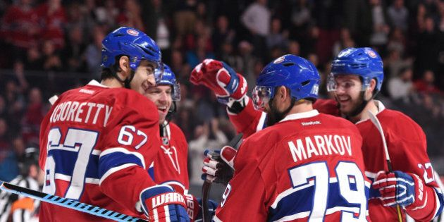 MONTREAL, QC - MARCH 8: Max Pacioretty #67 of the Montreal Canadiens celebrates after scoring a goal...
