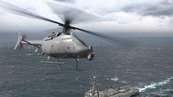 Des drones hélicoptères de Mirabel opèrent à partir de destroyers de l'US