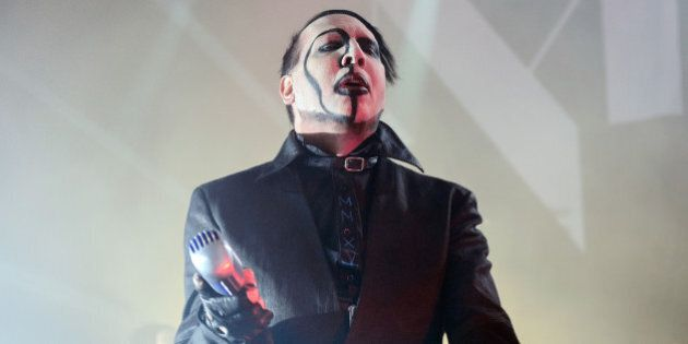 CHICAGO, IL - FEBRUARY 05: Marilyn Manson performs at Riviera Theatre on February 5, 2015 in Chicago,...