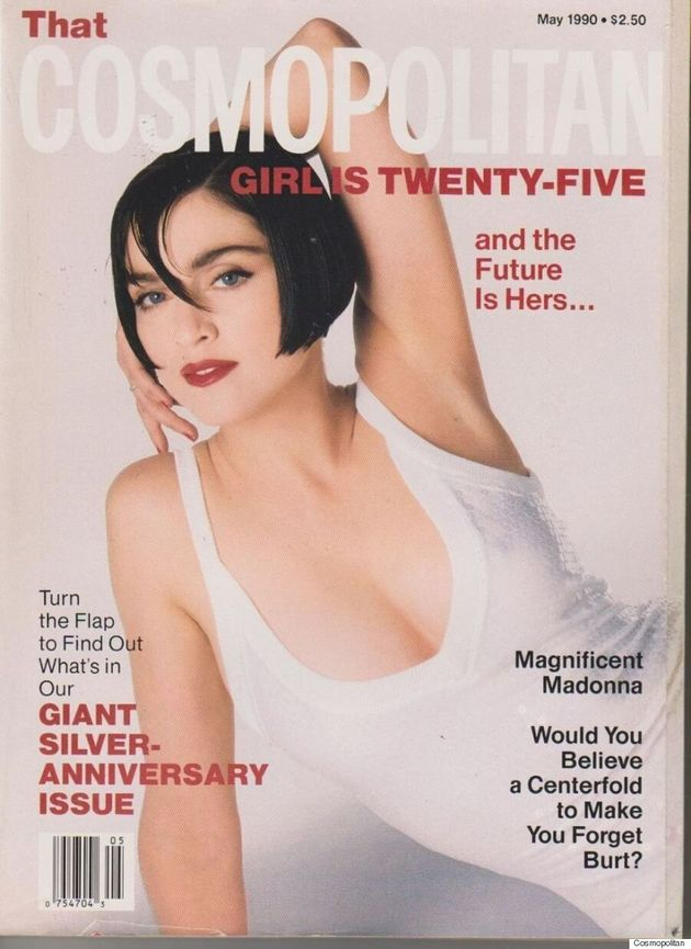 Madonna en dominatrice sexy sur la couverture du Cosmopolitan de mai