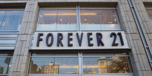 NEW YORK, NY - DECEMBER 24: A general view of the exterior facade of Forever 21 store in Union Square...