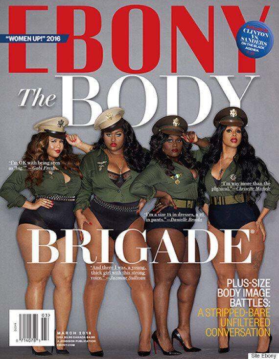 En une du magazine Ebony: quatre égéries «taille plus»