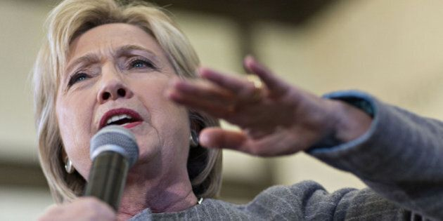 Hillary Clinton, former Secretary of State and 2016 Democratic presidential candidate, speaks during...