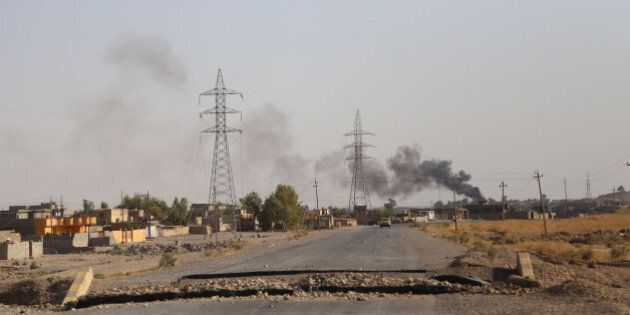 DIYALA, IRAK - AUGUST 24: Kurdish Peshmergas fight against Islamic State (IS) militants to regain the...