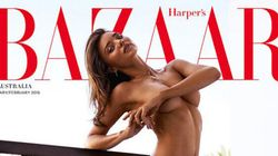 Miranda Kerr complètement nue pour Harper's Bazaar Australie