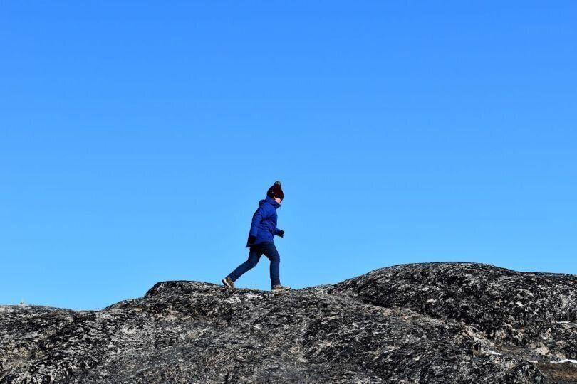 Η ανάβαση στους βράχους...