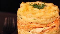Macaroni au fromage au saumon, épinard et vin blanc signé Max