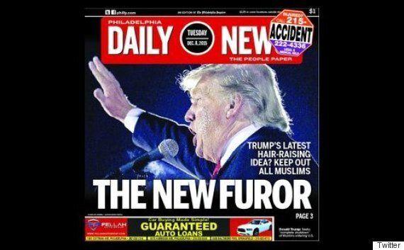 Le Philadelphia Daily News fait un rapprochement entre Donald Trump et Adolf Hitler en