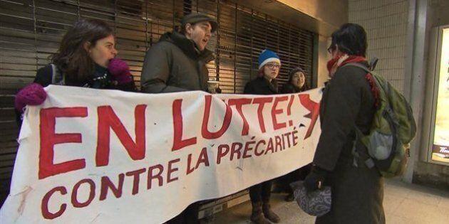 Les étudiants employés de l'UQAM poursuivent leur grève en pleine période