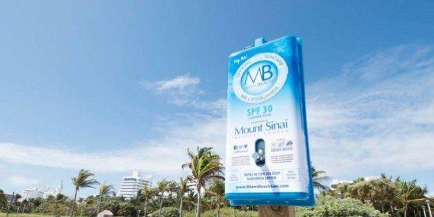 Cancers de la peau: des distributeurs de crème solaire sur les plages pour sensibiliser aux dangers du