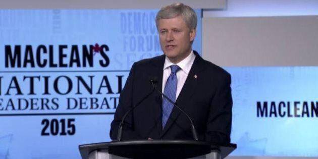 Récession: Harper ne précise pas ses propos tenus au débat des