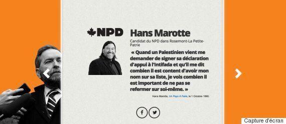Les conservateurs s'en prennent à Hans Marotte, candidat du NPD, pour ses propos sur l'Intifada
