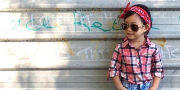 À trois ans, Audrey vous donnera des leçons de style