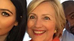 Kim Kardashian vraiment contente de son selfie avec la «prochaine présidente»