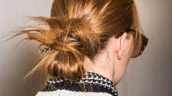 Les chignons décoiffés règnent à la semaine de mode de New York