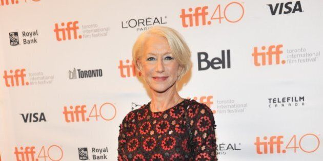 TORONTO, ON - SEPTEMBER 12: Actress Helen Mirren attends the 'Trumbo' premiere during the 2015 Toronto...