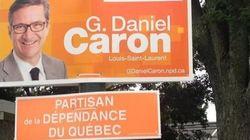 Le Bloc apporte sa touche aux pancartes de ses adversaires