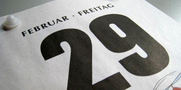 Ein Kalenderblatt von Freitag, 29. Februar 2008, aufgenommen am Mittwoch, 27. Februar 2008, in Frankfurt....