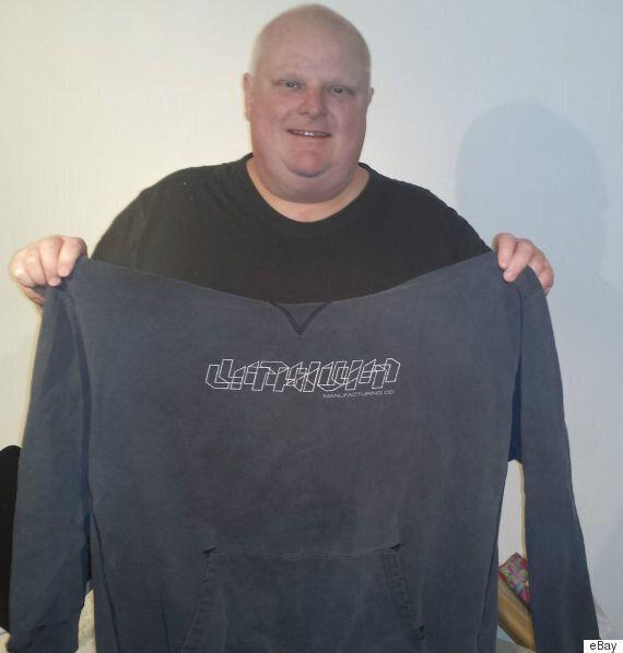 Rob Ford vend un chandail sur eBay qui pourrait être celui qu'il a porté lors d'un