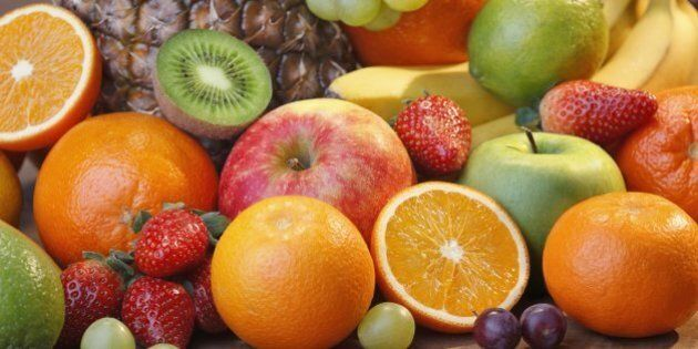 A horizontal full frame image of healthy fruits.